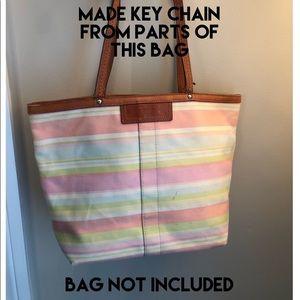 Coach Accessories - OOAK Coach Creed Hangtag Key Chain Handmade